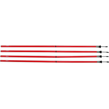 Agility Pole Two Piece (4 pack Red)