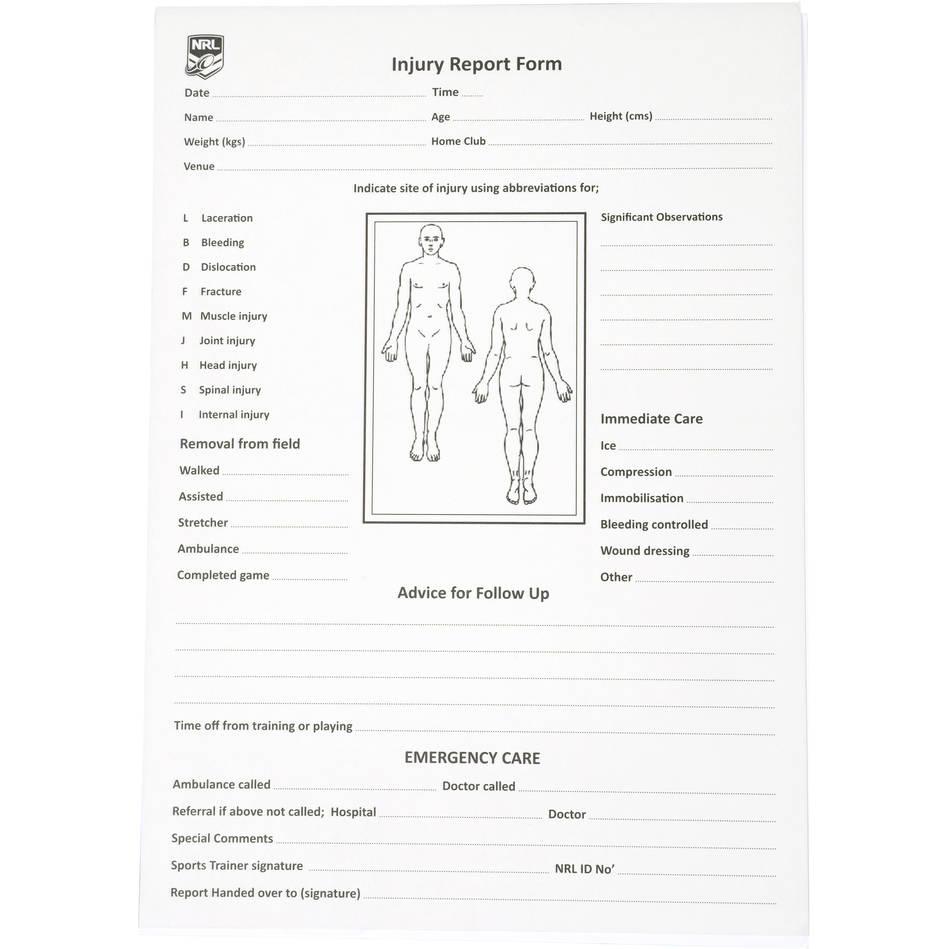 mainInjury Report Form - Booklet0
