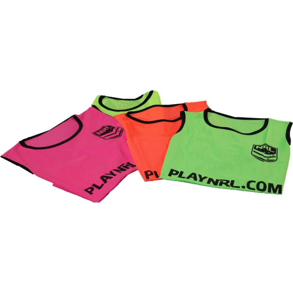 mainST-NRL Fluoro Training Bib Jnr - available in 4 colours0