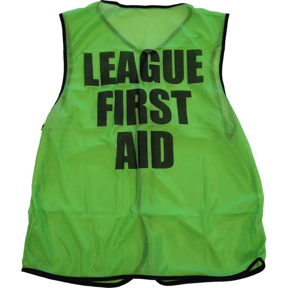 mainLeague First Aid Bib - Lime - Senior0