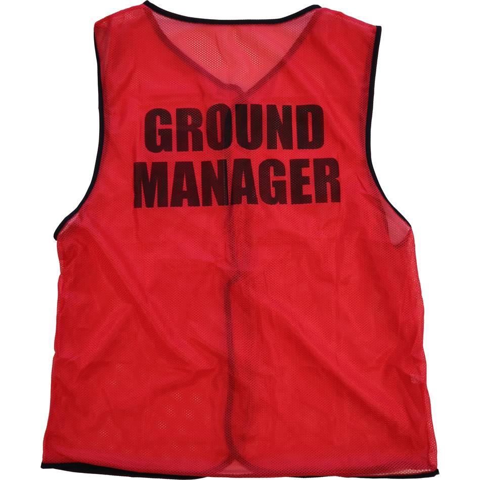 mainGround Manager Bib - Red0
